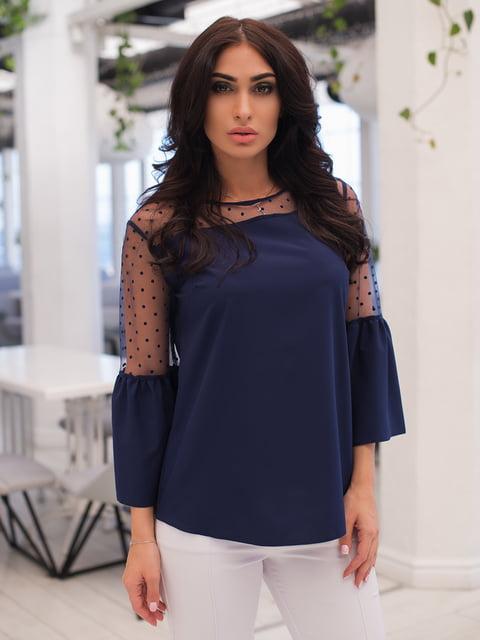 Блуза темно-синя ELFBERG 4950246