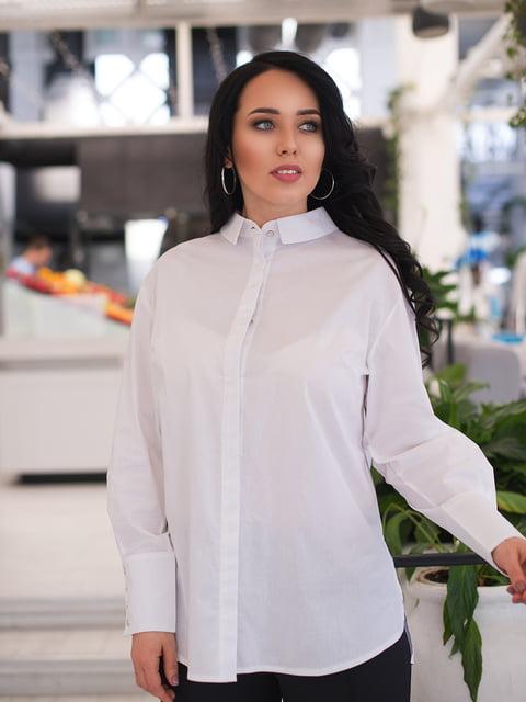 Рубашка белая ELFBERG plus size 4950260