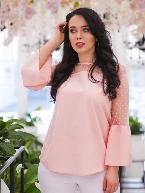 Блуза цвета пудры ELFBERG plus size 4950297