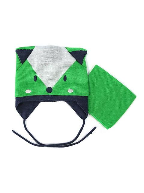 Комплект: шапка и манишка Peluche & Tartine 4952475