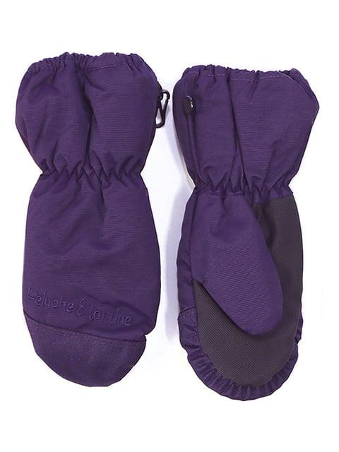 Рукавицы-краги фиолетовые Peluche & Tartine 4952509