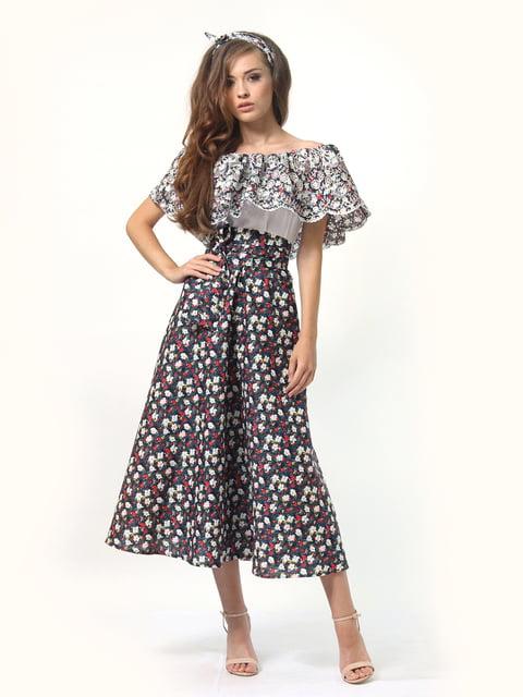Платье в цветочный принт с поясом AGATA WEBERS 4958175