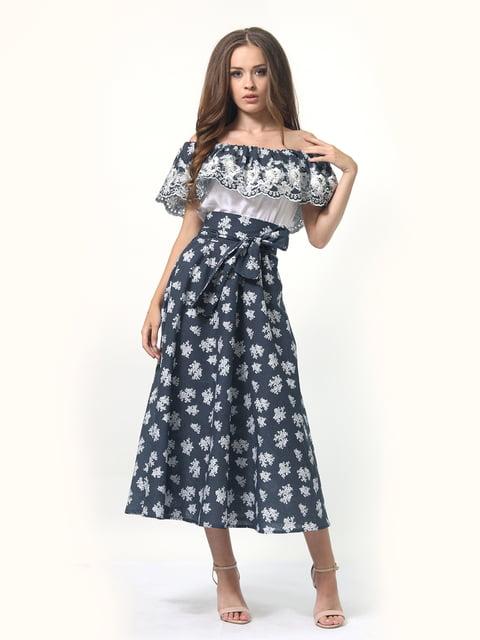 Платье в цветочный принт с поясом AGATA WEBERS 4958176