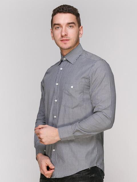 Рубашка черная в полоску Arber 4855386