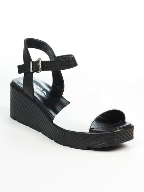 Босоніжки чорно-білі Perra Donna 4921883