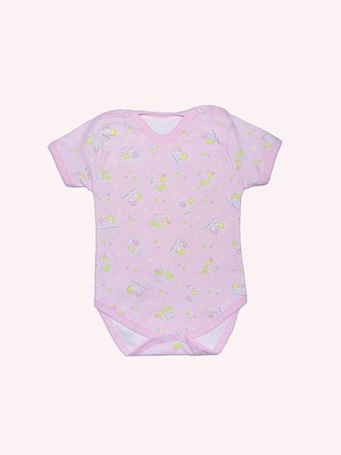 Боді рожеве з принтом Малыш 4971379