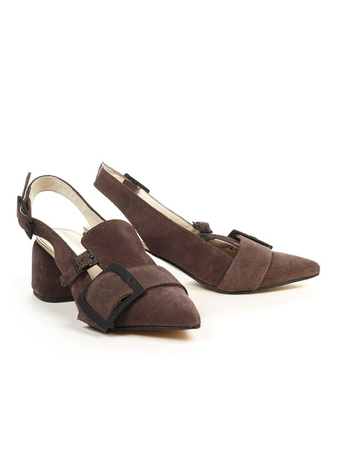 Туфлі кольору мокко NUBE 4965343