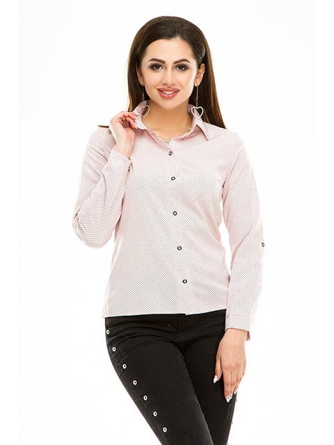 Сорочка рожева в горошок Exclusive. 4973523