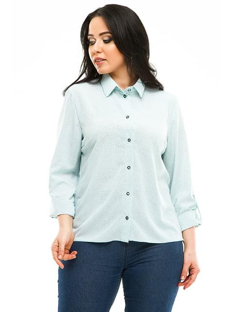 Сорочка м'ятного кольору в горошок Exclusive. 4973526