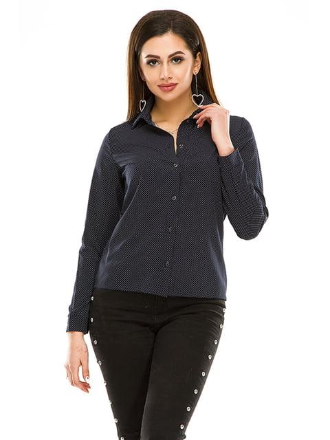 Сорочка темно-синя в горошок Exclusive. 4973527