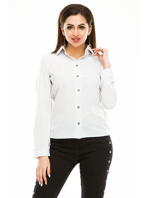 Сорочка біла в горошок Exclusive. 4973529