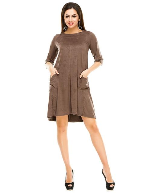 Платье цвета мокко Exclusive. 4973576