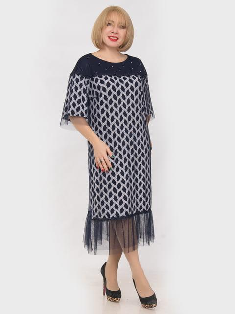 Сукня синя в принт LibeAmore 4975273