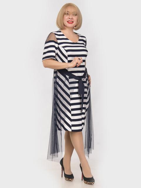 Платье синее в полоску LibeAmore 4975303