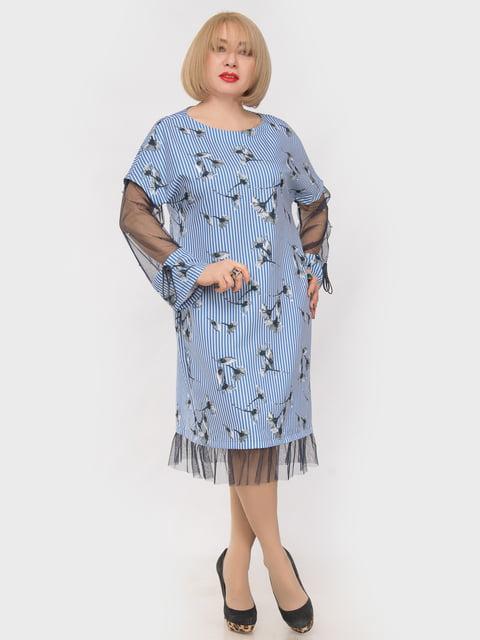 Платье голубое в принт LibeAmore 4975304