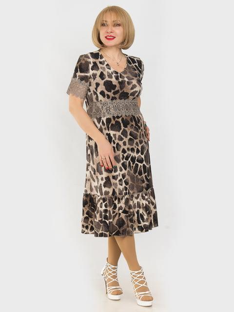 Платье в анималистичный принт LibeAmore 4975328