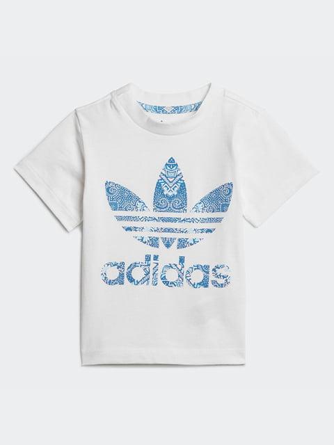 Футболка белая с принтом Adidas 4886164