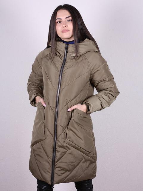Пальто оливкового цвета Artua Collection 4977713