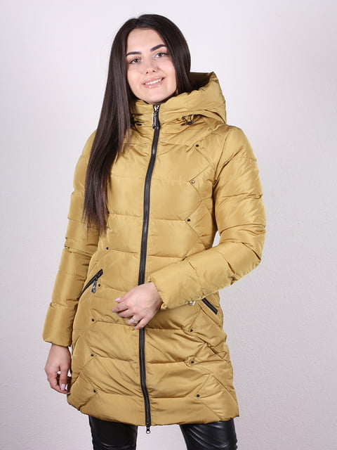 Пальто горчичного цвета Artua Collection 4977785