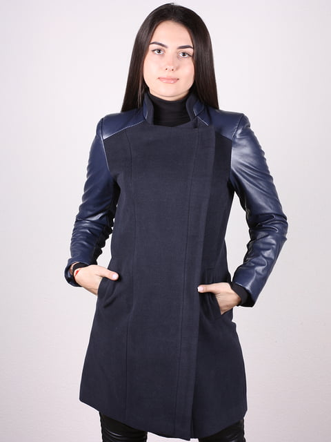 Пальто темно-синее Artua Collection 4906675