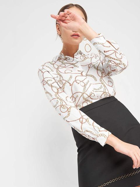 Рубашка белая в принт Orsay 4977987