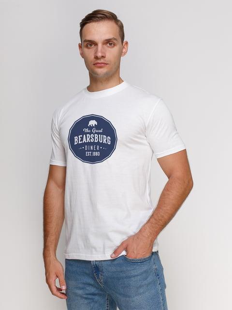 Футболка біла з принтом Manatki 4978741