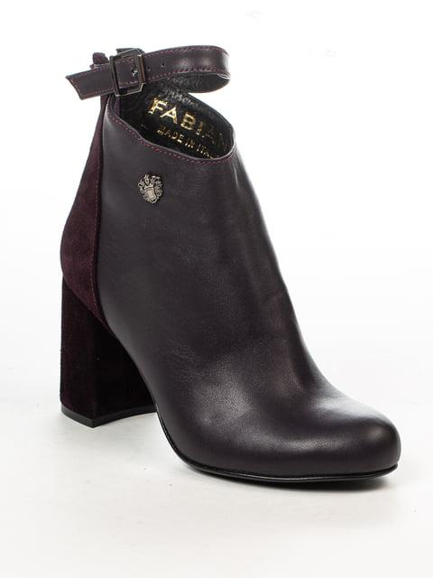 Ботинки цвета баклажан Fabiani 4948490