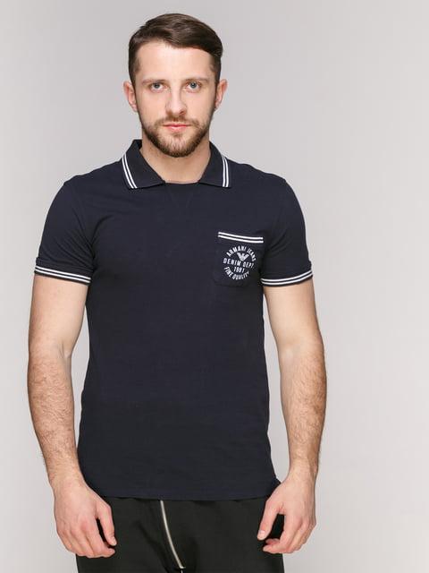 Футболка-поло темно-синя Armani Jeans 4975414