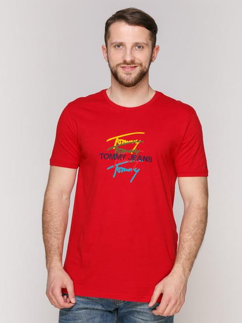 Футболка червона Tommy Hilfiger 4975346