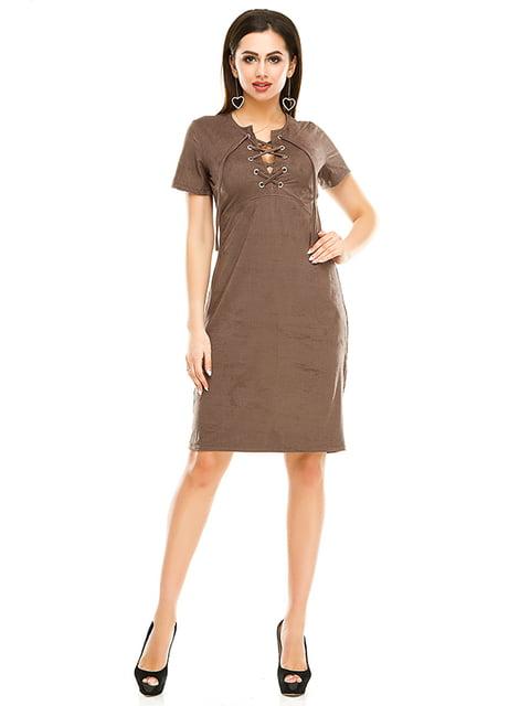 Сукня кольору мокко Exclusive. 4979872