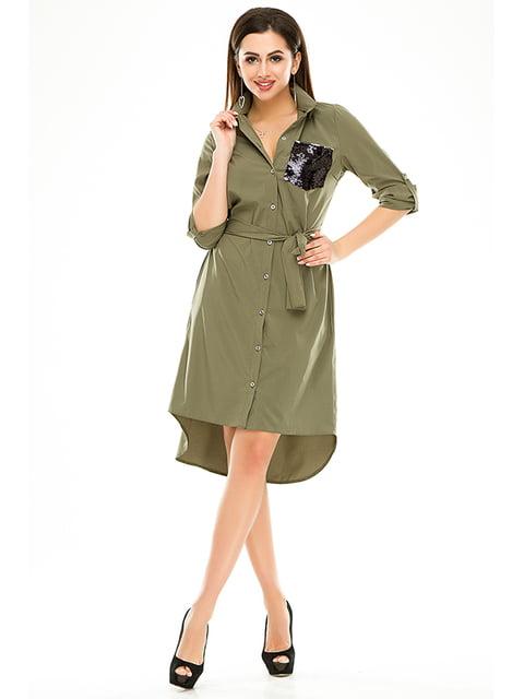 Платье оливкового цвета Exclusive. 4979885