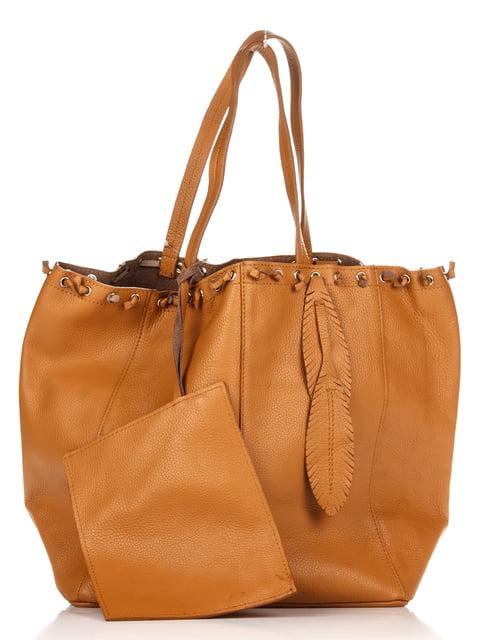 Сумка коньячного кольору Italian Bags 4756975
