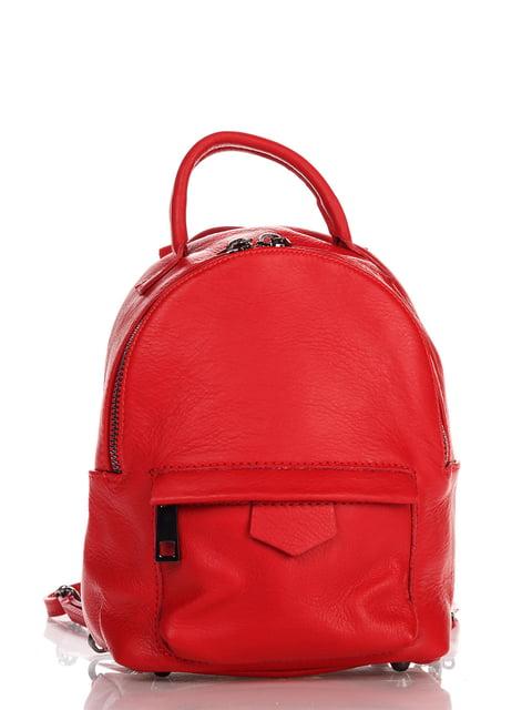 Рюкзак червоний Italian Bags 4757364