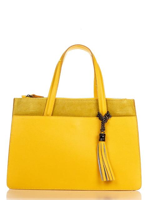 Сумка жовта Amelie Pelletteria 4757391