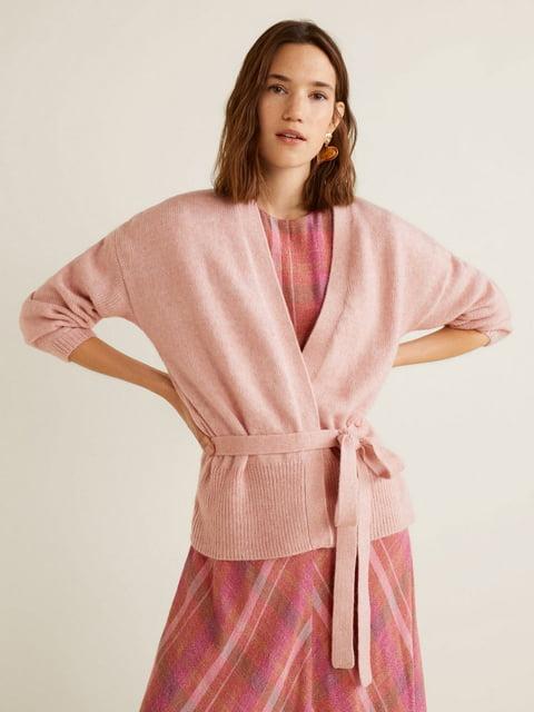 Кардиган розовый Mango 4981765