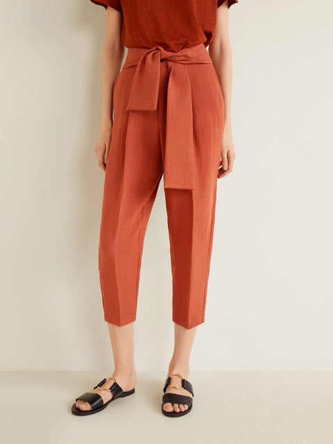 Штани морквяного кольору Mango 4981633