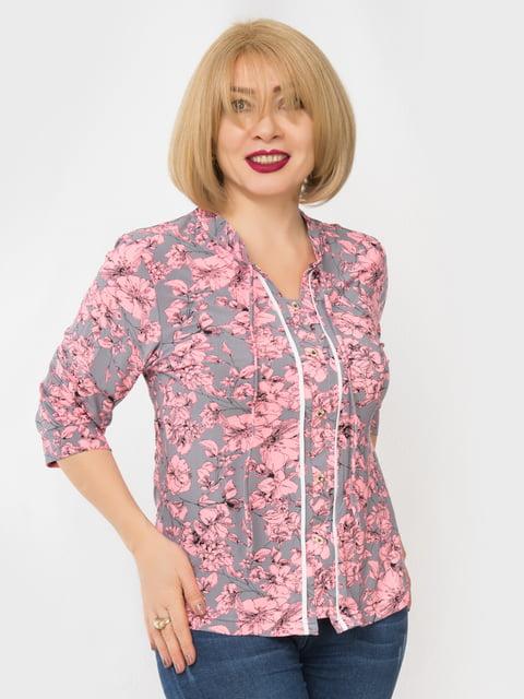 Блуза в принт LibeAmore 4982879