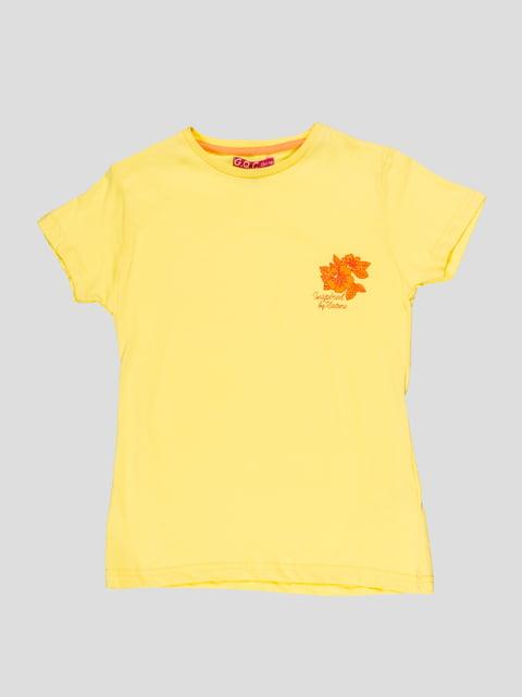 Футболка жовта з принтом Arber 4959281