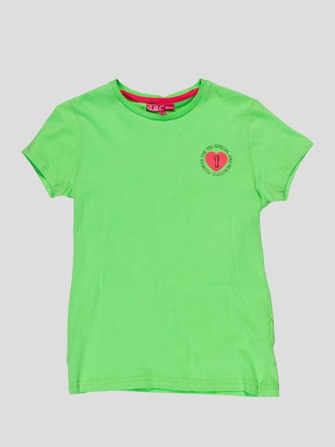 Футболка зелена з принтом Arber 4854813