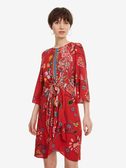 Платье красное в принт Desigual 4983153