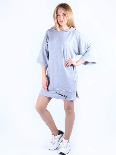 Сукня сіра з принтом MOONLIGHT 4984054