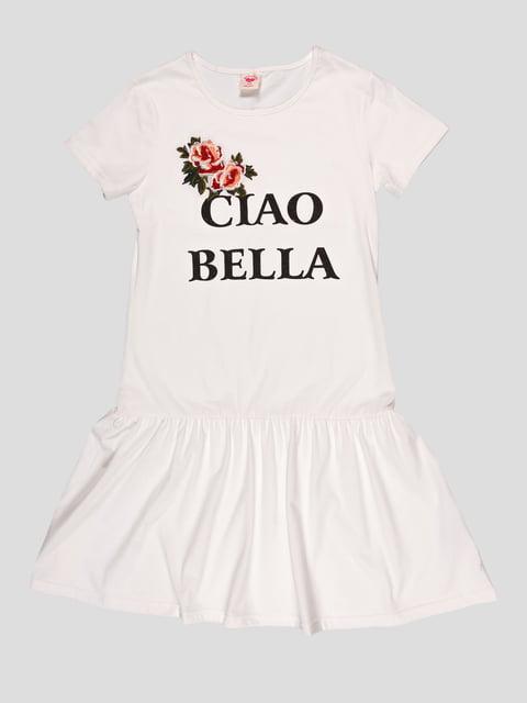 Платье белое в принт Glo-Story 4979803