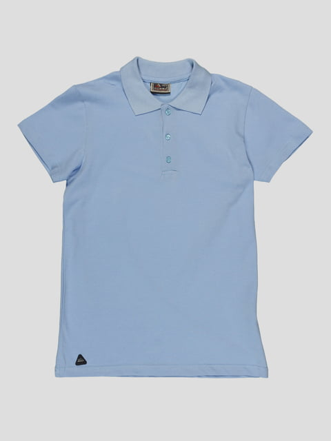 Футболка-поло блакитна Cegisa 4988379