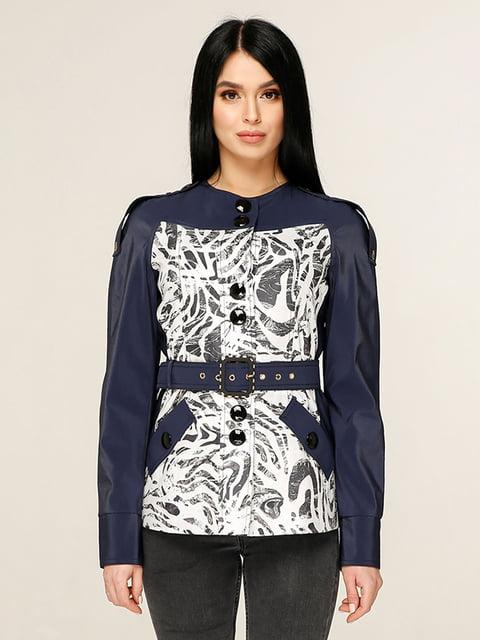 Куртка темно-синя з принтом Favoritti 4979825