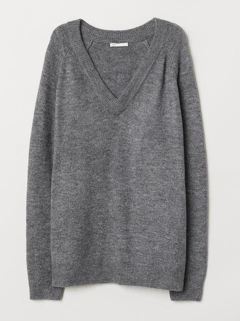 Пуловер серый H&M 4982447