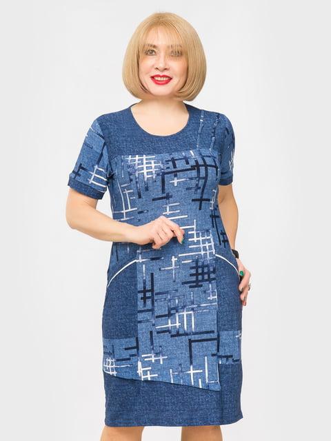 Сукня синя з принтом LibeAmore 5027221