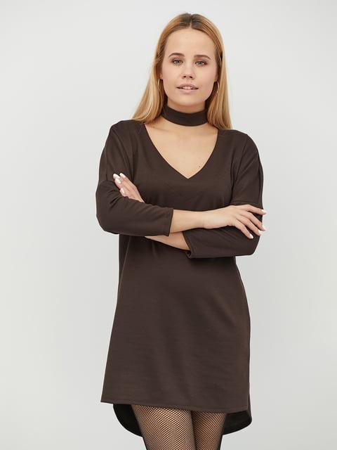 Платье шоколадного цвета CRISS 5029411