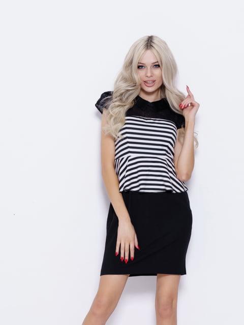 Платье двухцветное с полосками Magnet 5029636