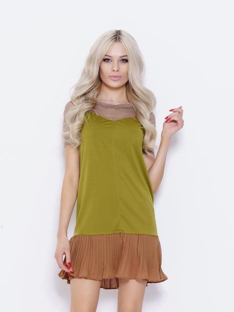 Платье оливкового цвета Magnet 5029687