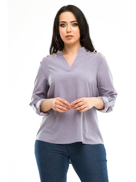 Блуза темно-сіра в горошок Exclusive. 5010606